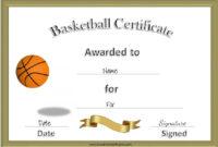 Ridiculous Printable Basketball Certificates  Regina Blog inside Free Basketball Camp Certificate Template