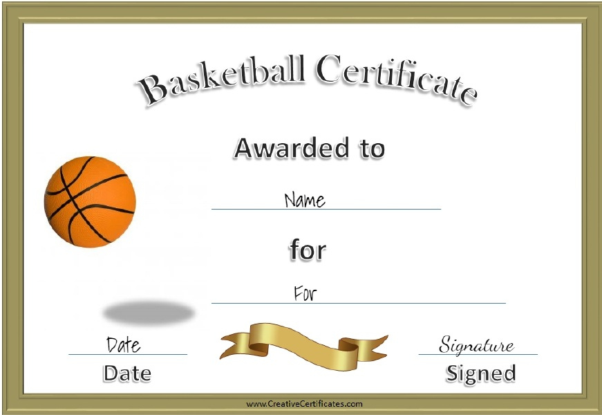 Ridiculous Printable Basketball Certificates  Regina Blog inside Free Basketball Camp Certificate Template
