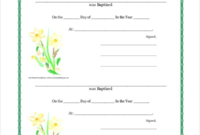 Roman Catholic Baptism Certificate Template 3 with Baby Christening Certificate Template