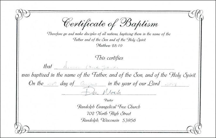 Roman Catholic Baptism Certificate Template  Certificate in Roman Catholic Baptism Certificate Template