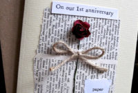 Romantic And Understated First Wedding Anniversary Card within Printable Anniversary Gift Certificate