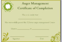 Roofing Certificate Of Completion Form  Form  Resume pertaining to Printable Anger Management Certificate Template Free