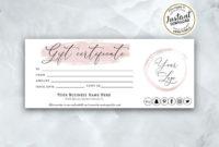 Rose Gold Gift Certificate Template Modern Printable Gift in Free Share Certificate Template Australia