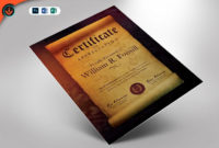Royal Scroll Certificate Photoshop Word Publisher in Scroll Certificate Templates