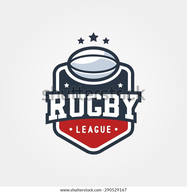 Rugby League Vintage Badge Logo Template Stock Vector for Rugby League Certificate Templates