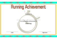 Running Achievement Certificate Template Free 5 In 2020 in Running Certificate Templates