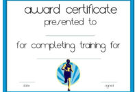 Running Certificate Templates Free  Customizable inside Amazing Finisher Certificate Templates