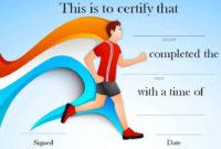 Running Certificate Templates Free  Customizable inside Free Marathon Certificate Templates