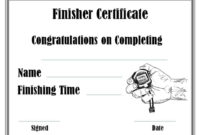 Running Certificate Templates Free  Customizable within Quality Running Certificate Templates