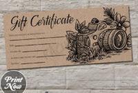 Rustic Kraft Printable Photography Gift Certificate inside Free Photography Gift Certificate Template