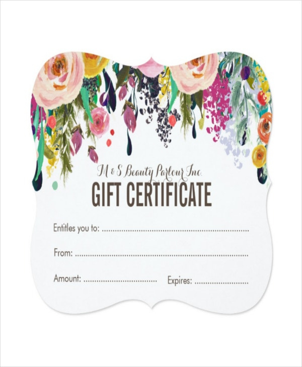 Salon Gift Certificate Template  9 Free Pdf Psd Ai intended for Awesome First Haircut Certificate Printable Free 9 Designs