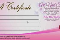 Salon Gift Certificate Templates  Addictionary regarding Nail Salon Gift Certificate Template