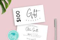Salon Gift Certificate Templates  Addictionary throughout Salon Gift Certificate