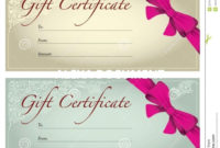 Salon Gift Certificate Templates  Addictionary with regard to Hair Salon Gift Certificate Templates