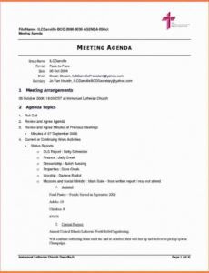 Sample Agenda Template For Meeting intended for Free Project Management Kick Off Meeting Agenda Template