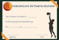 Sample Certificate Basketball Certificate Templates Free with Basketball Tournament Certificate Template