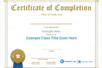 Sample Completion Certificate Templates Download with Certificate Of Completion Templates Editable