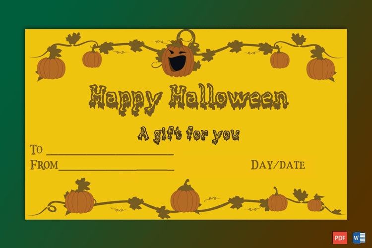 Sample Of Halloween Gift Certificate Petrify  Certificate within Halloween Costume Certificates 7 Ideas Free