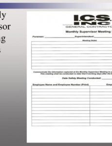 Sample Ppt Best Practices 1 Front Line Supervisor Training within Foreman Meeting Agenda Template