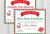 Santa Nice List Certificate Christmas Printables Naughty regarding Free 9 Naughty List Certificate Templates