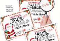 Santa'S Nice List Editable Certificate Template  Etsy inside Santas Nice List Certificate Template Free