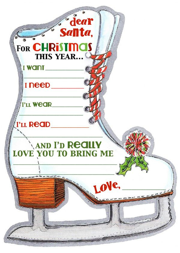 Santa'S Waiting For Your List Free Printable Fun At for Free Ice Skating Certificates