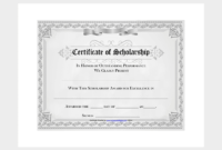 Scholarship Certificate Template  7 Free Editable For pertaining to Best 10 Scholarship Award Certificate Editable Templates