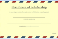 Scholarship Certificate Template Top 10 Greatest Ideas for 10 Scholarship Award Certificate Editable Templates