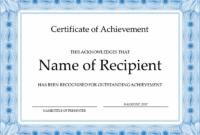 School Achievement Certificate with Netball Achievement Certificate Template