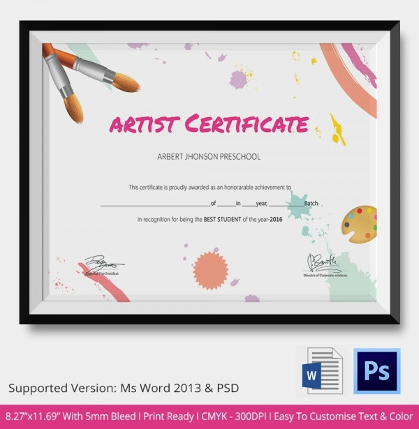 School Certificate Template  17 Free Word Psd Format with Star Reader Certificate Template
