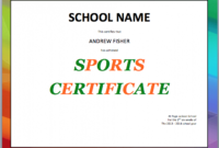 School Sports Certificate Template  Word Templates For with regard to Quality Free Teamwork Certificate Templates