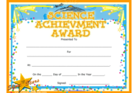 Science Achievement Award Certificate Template Download inside Star Reader Certificate Template