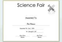 Science Fair Certificate Printable Certificate pertaining to Science Fair Certificate Templates