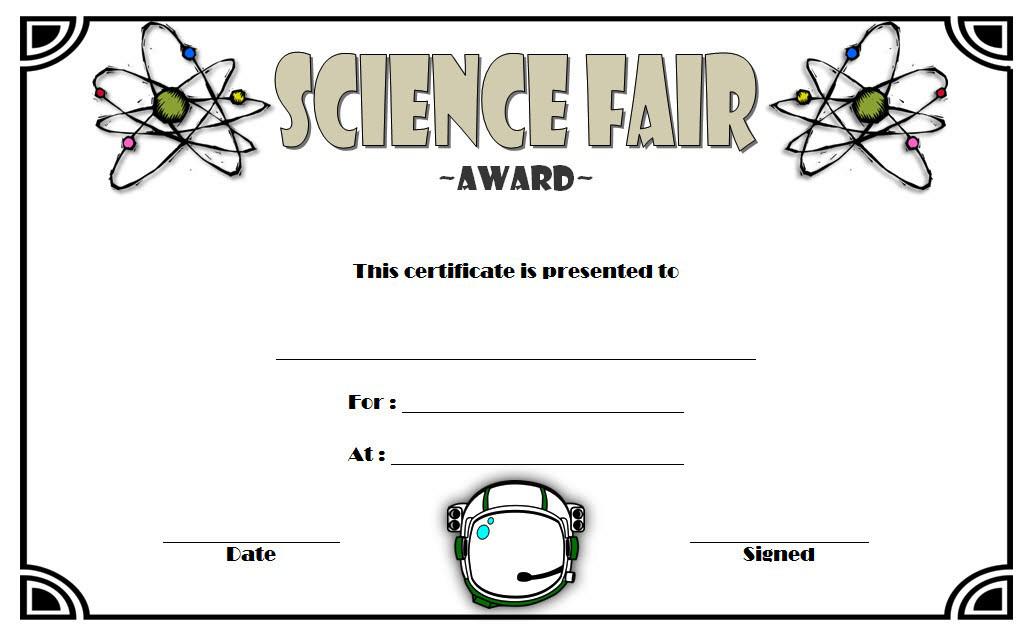 Science Fair Winner Certificate Template 6 regarding Science Achievement Certificate Templates