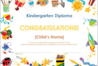 Screenshot Of The Kindergarten Diploma Template regarding Amazing Kindergarten Certificate Of Completion Free