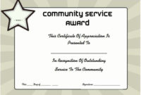 Service Awards Certificates Template Fresh Munity Service for Amazing Community Service Certificate Template Free Ideas