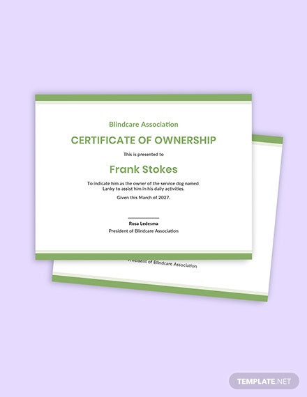 Service Dog Certificate Template  Template Library intended for Amazing Service Dog Certificate Template
