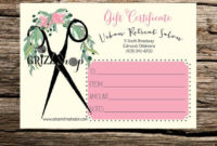 Set Of 50 Salon Gift Certificates On Etsy 7500  Gift inside Free Spa Gift Certificate Templates For Word