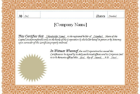 Share Certificate Template Pdf 7  Best Templates Ideas in Amazing Share Certificate Template Pdf