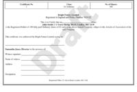 Share Certificate Template  Stock Certificate in Awesome Shareholding Certificate Template