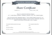Share Certificate Template Za Top 2 Fantastic Experience in Template Of Share Certificate