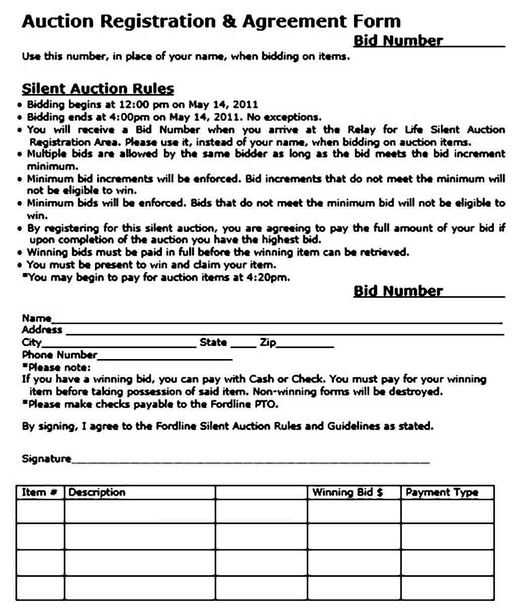 Silent Auction Bid Sheet Sample  Mous Syusa pertaining to Printable Silent Auction Certificate Template 10 Designs 2019