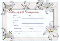 Silver Lily Gift Certificate Template for Anniversary Gift Certificate Template Free