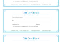 Simple Gift Certificate  Free Simple Gift Certificate with regard to Printable Gift Certificates Templates Free
