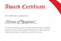 Skating Award Certificate Design Template In Psd Word within Contest Winner Certificate Template