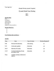 Small Business Meeting Agenda Template intended for Printable Agenda Template For Nonprofit Board Meeting