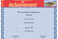 Snowshoeing Printable Certificate in Awesome Crossing The Line Certificate Template