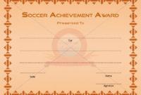 Soccer Achievement Award  Award Certificates Award pertaining to Soccer Achievement Certificate Template