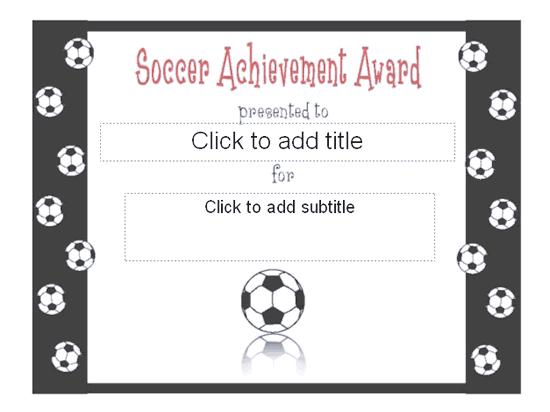 Soccer Achievement Award Certificate  Free Certificate throughout Soccer Achievement Certificate Template