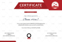 Soccer Achievement Certificate Design Template In Psd Word intended for Certificate Of Achievement Template Word
